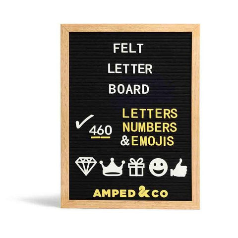 Felt Message Board - Black