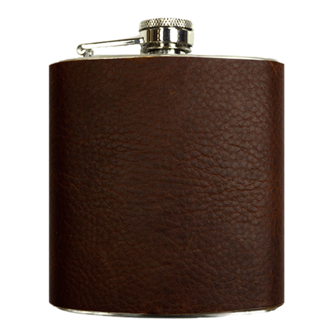 Brand and Iron Leather Flask