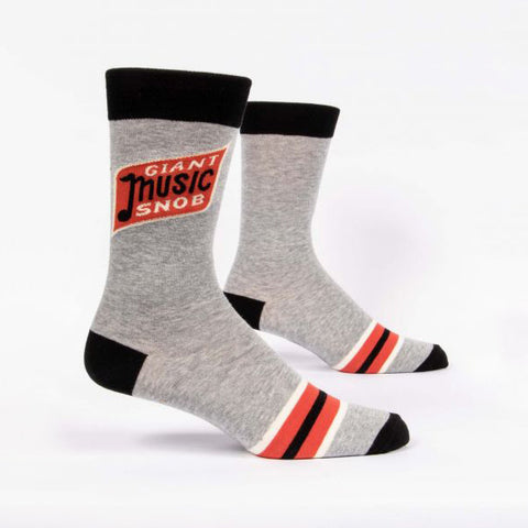 Mens Crew Socks - Giant Music Snob