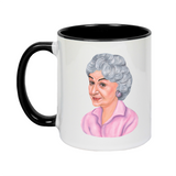 Golden Girls Dorothy Andrea Hooge Make Original White Mug Black Inner