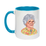 Golden Girls Sophia Andrea Hooge Make Original White Mug Light Blue Inner