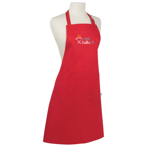 I Turn Grills On Make Original Red Apron