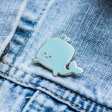 Halifax Paper Hearts Enamel Pin - Whaley Cute