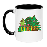 Happy Little Trees Make Original White Mug Black Inner