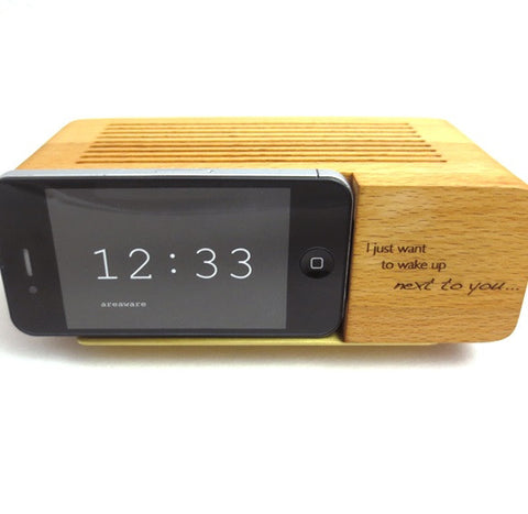 Engraved Wooden iPhone Dock