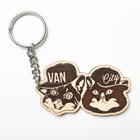 Make Original Leather Keychain - Van City Kitties