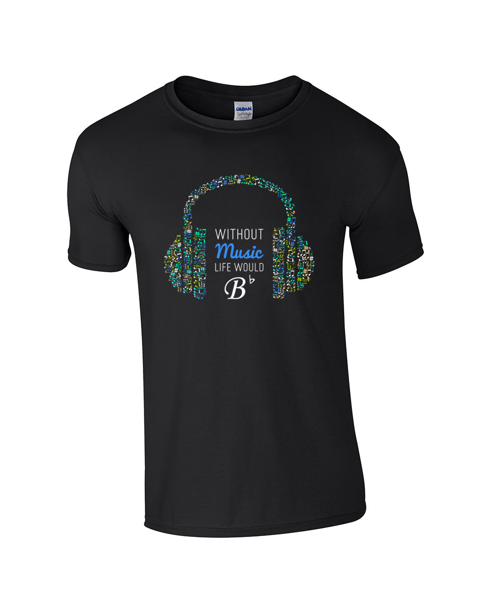 Without Music Make Original Black T-Shirt Mens
