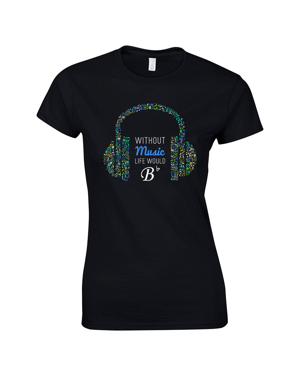 Without Music Make Original Colour T-shirt Womens