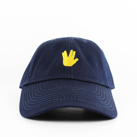 Live Long and Prosper Make Original Navy Chino Cap