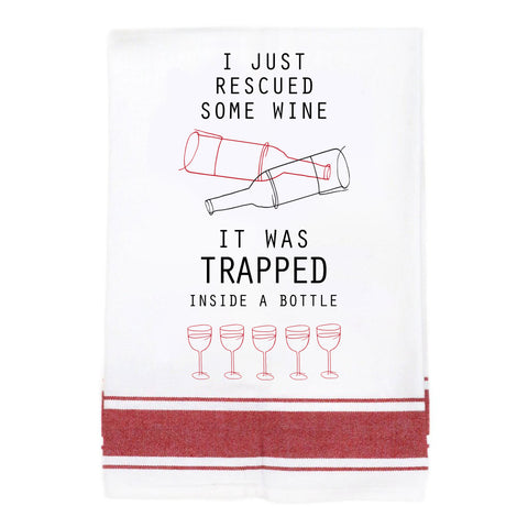 Rescued Wine Make Original Kitchen Towel