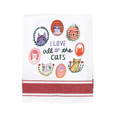 I Love All of the Cats Make Original Kitchen Towel