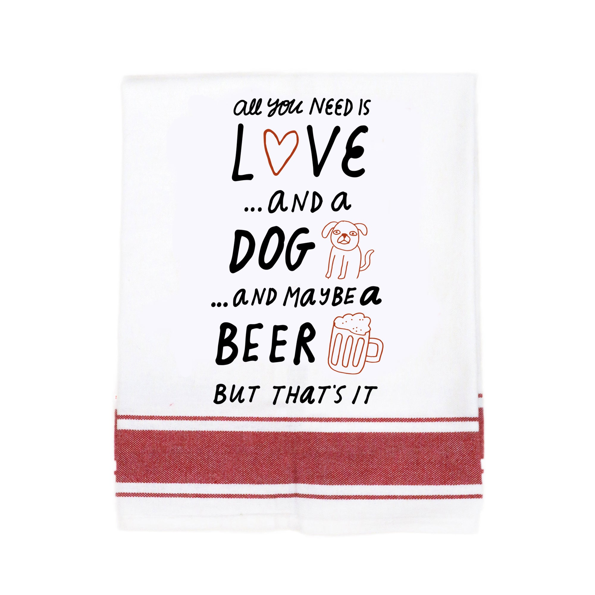All You Need Is Love Make Original Kitchen Towel