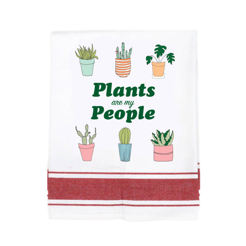 Plants Are My People Make Original Kitchen Towel