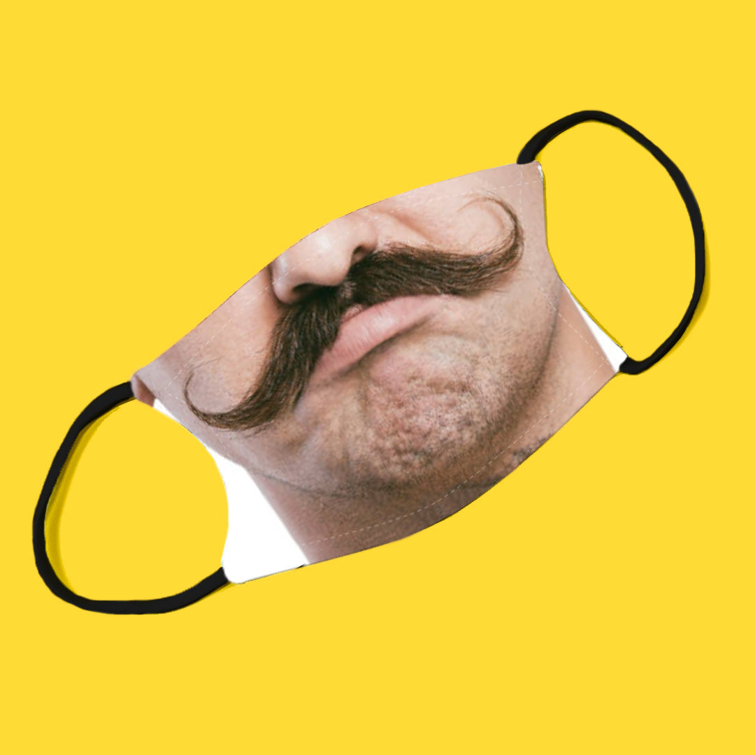 Moustache Adjustable Make Original Face Mask with Filter ADULT