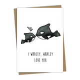 Orcas Whaley Love You Greeting Card