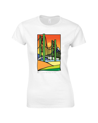 Painted Rocket Lions Gate Original Make Original White Premium T-Shirt Womens