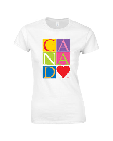 Painted Rocket Love Canada Make Original White Premium T-Shirt Womens