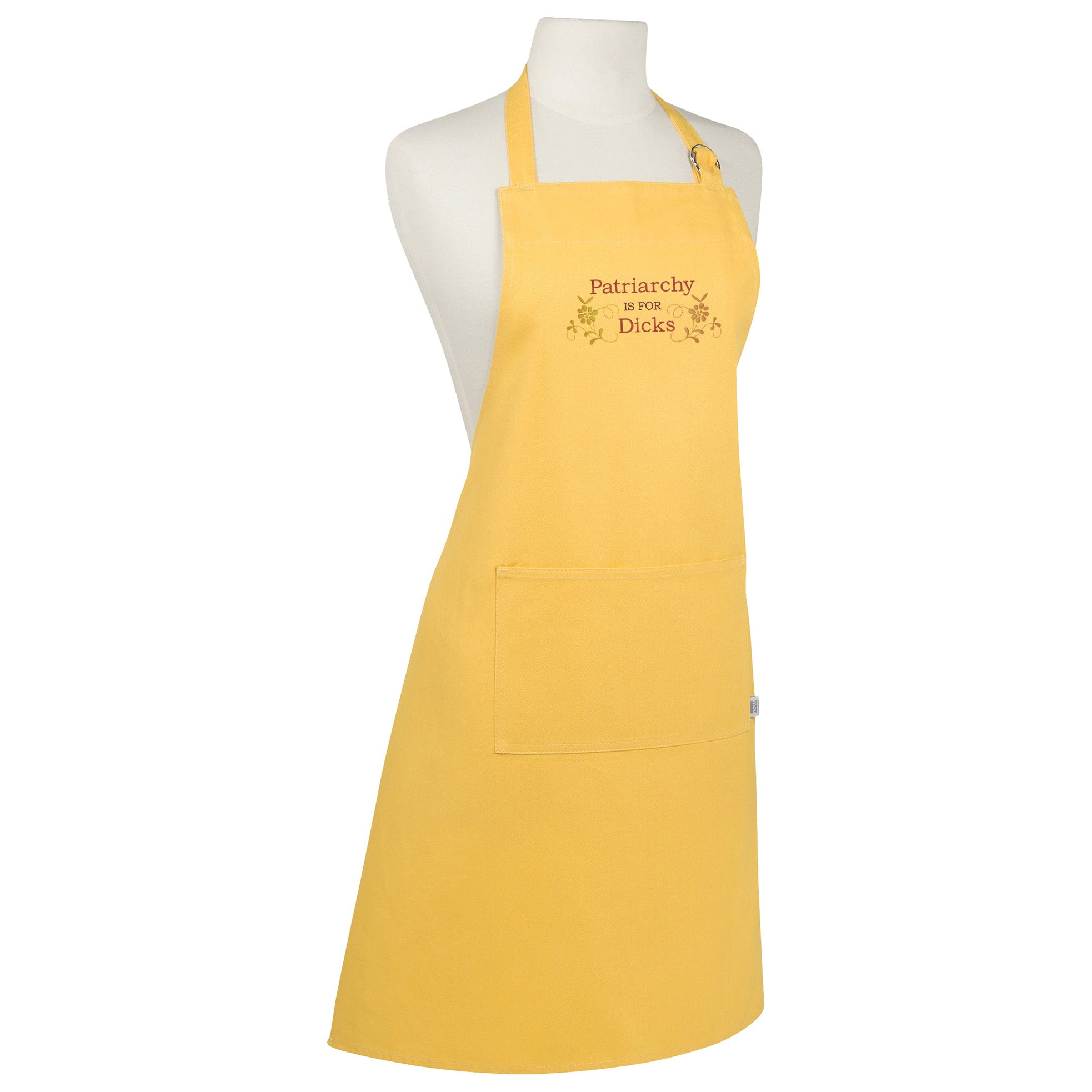 Patriarchy is for Dicks Make Original Yellow Apron