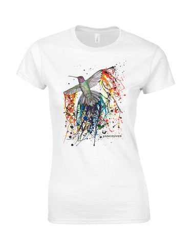 Pride Hummingbird Make Original White Premium T-Shirt Womens