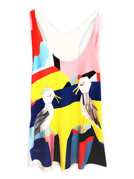 Priscilla Yu Seagull Mural Make Original Womens Mighty Tank
