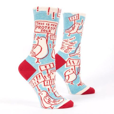 Womens Crew Socks - This Is My Protest Sock