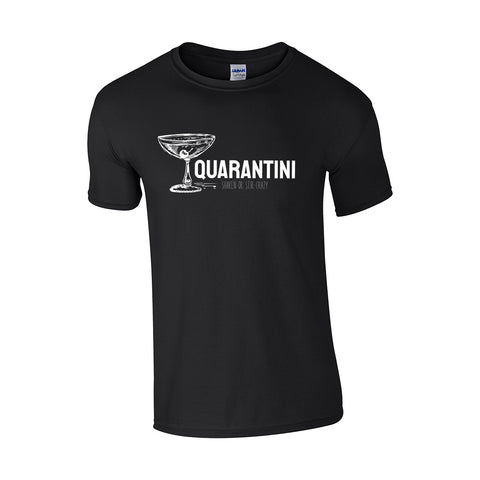 Quarantini Make Original Black T-Shirt Mens