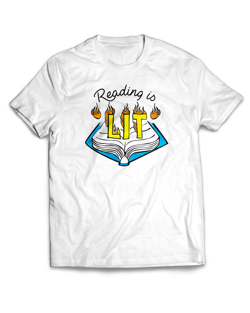 Reading is Lit Make Original White T-Shirt Mens