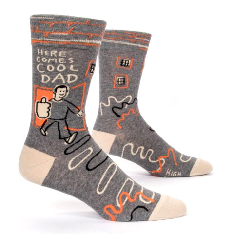 Mens Crew Socks - Here Comes Cool Dad