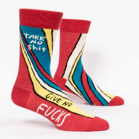 Mens Crew Socks - Take No Shit