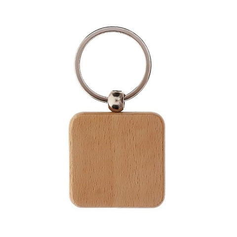 Wood Keychain Rounded Square