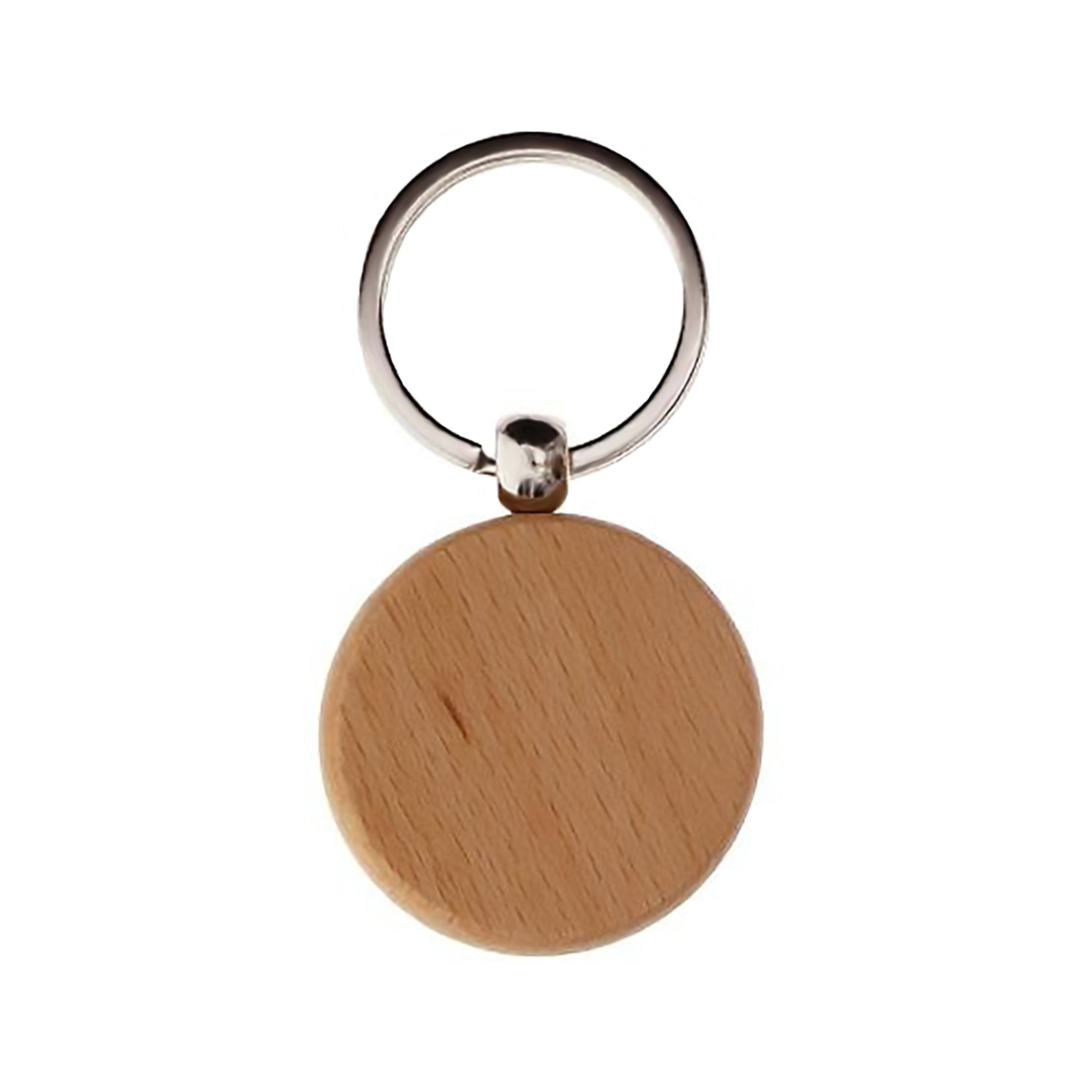 Wood Keychain Circle