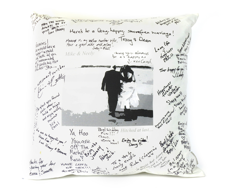 Guest Signature Printed Wedding Pillow