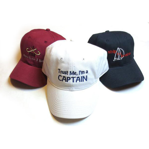 Embroidered Nautical Caps