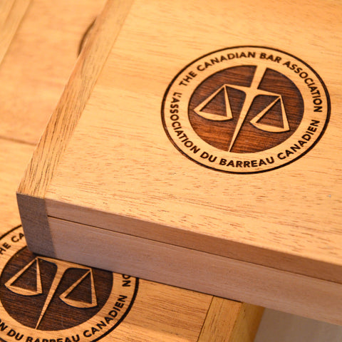 Corporate Gift Laser Engraved Wooden Gift Boxes