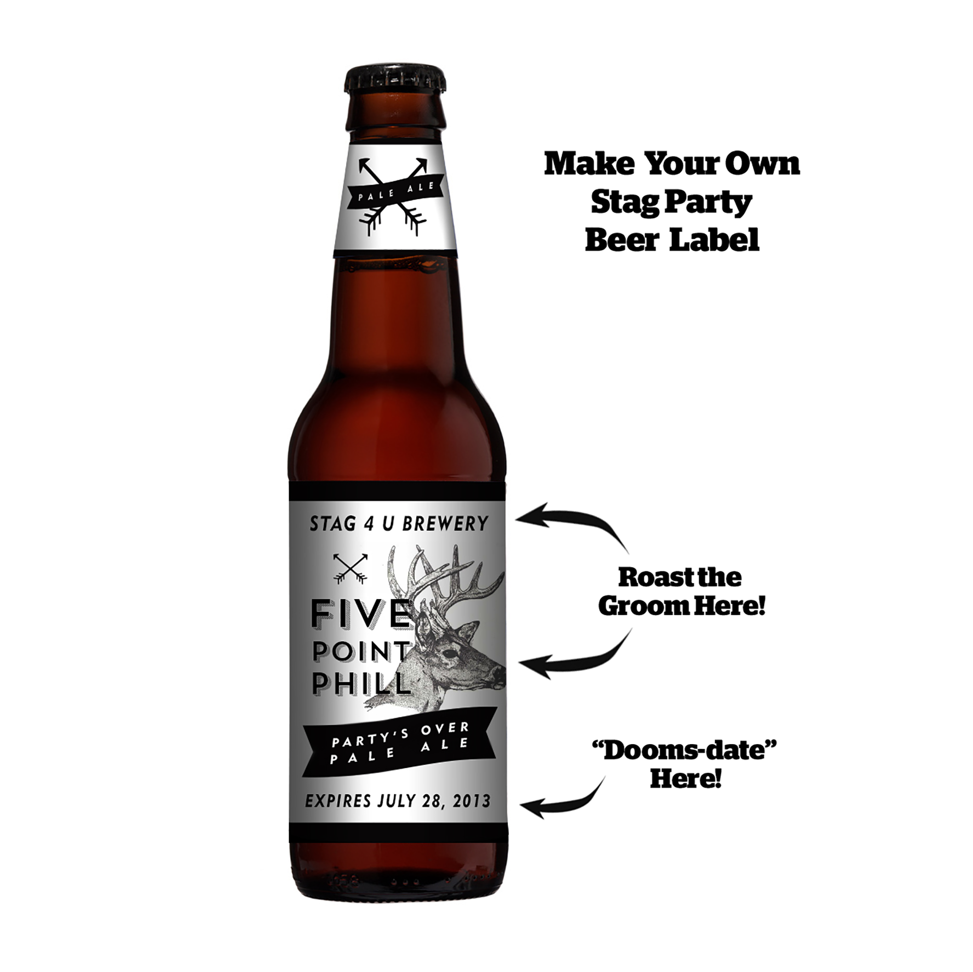 Make this Beer Label Your Own! Personalize the design for digital t-shirt printing.