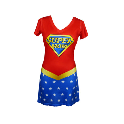Super Mom Make Original Mighty Print Dress Womens