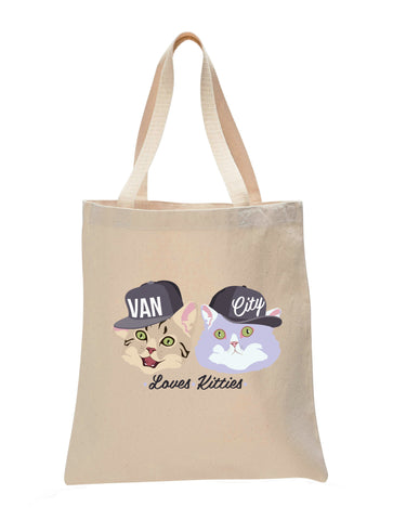 Van City Loves Kitties Make Original Natural Tote