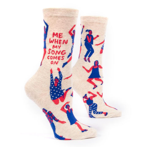 Womens Crew Socks - When My Song Comes On