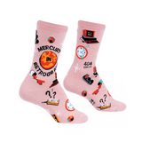 Womens Crew Socks - Mercury In Retrograde