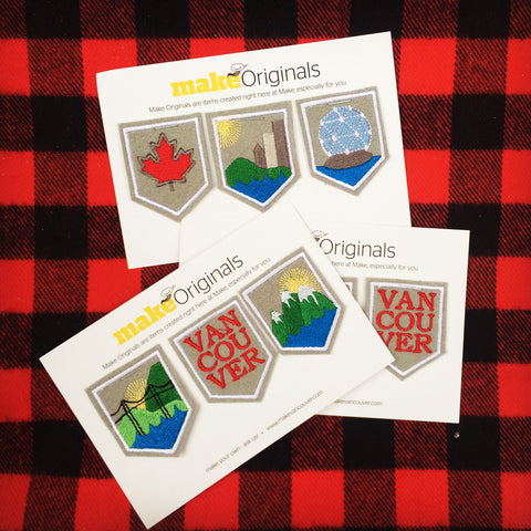 Mini Souvenir Shield Badges Embroidered Patches (Set of 3)