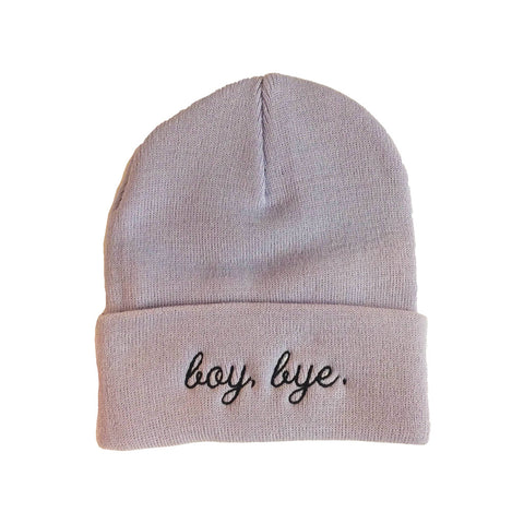 Boy Bye Embroidered  Toque
