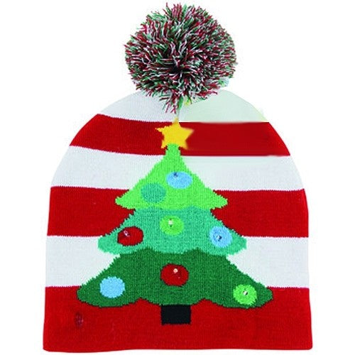 X-Mas Light-Up Toque - Christmas Tree