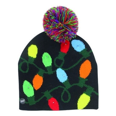 X-Mas Light-Up Toque - Christmas Lights