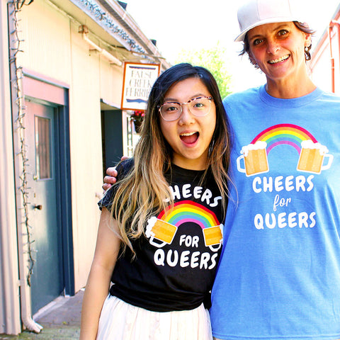 Cheers for Queers Make Original Black T-Shirt Womens