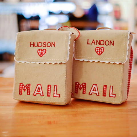 Embroidered Kids Mail Bags
