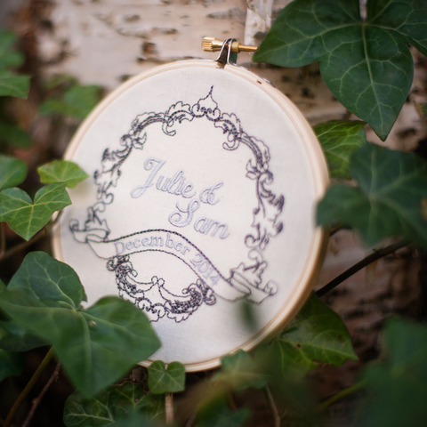 Wedding and Love Embroidered Ornament