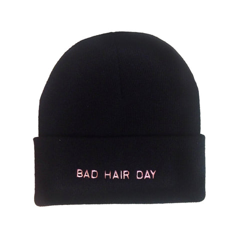 Bad Hair Day Make Original Black Cuffed Toque