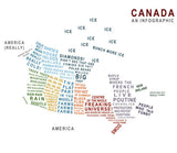 Canada Explained Infographic Make Original Kitchen Towel