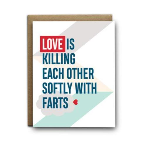 Greeting Card - Love Is Farts