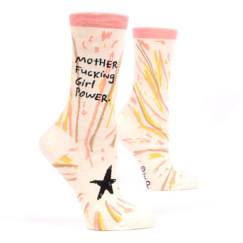 Womens Crew Socks - Mother Fucking Girl Power